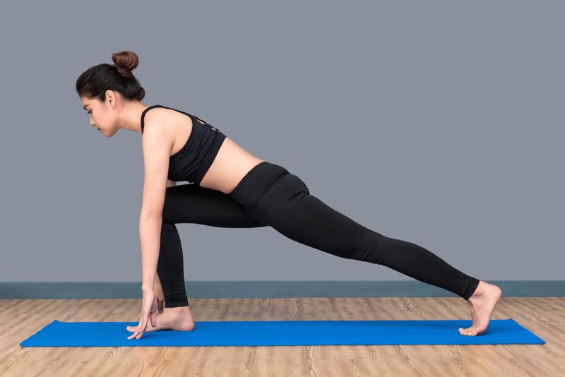 Yoga poses athlete