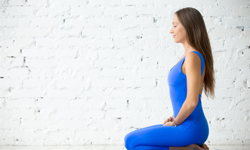 Yoga Vajrasana pose