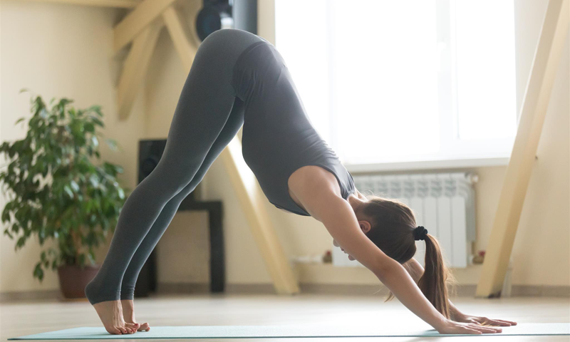 downward-facing dog yoga pose
