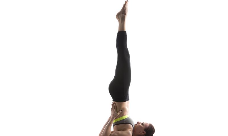 yoga sarvangasana pose