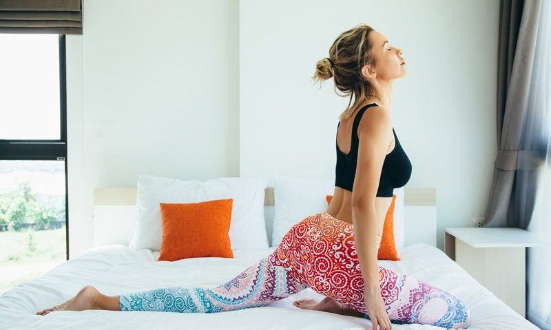 yoga poses wake you up