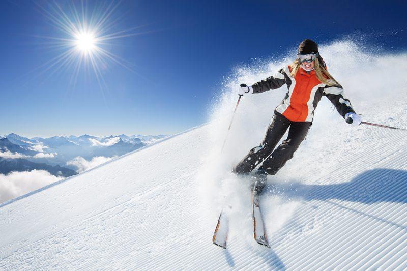 yoga skiing
