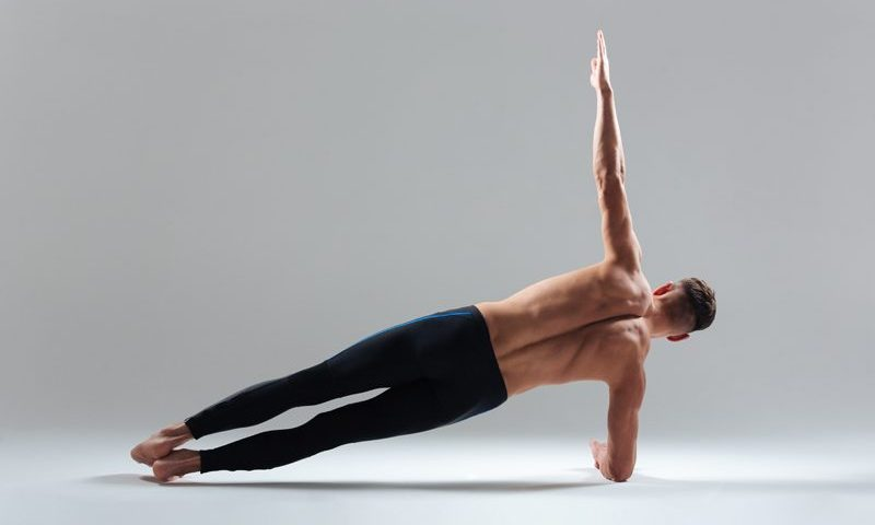 Yoga men build strength