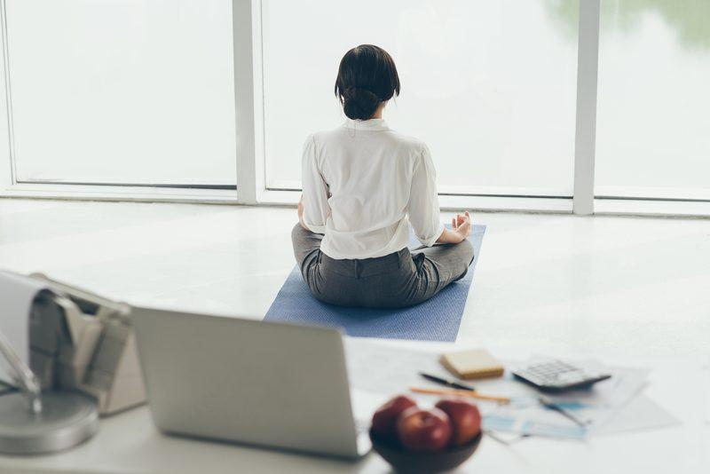 Yoga lunch break
